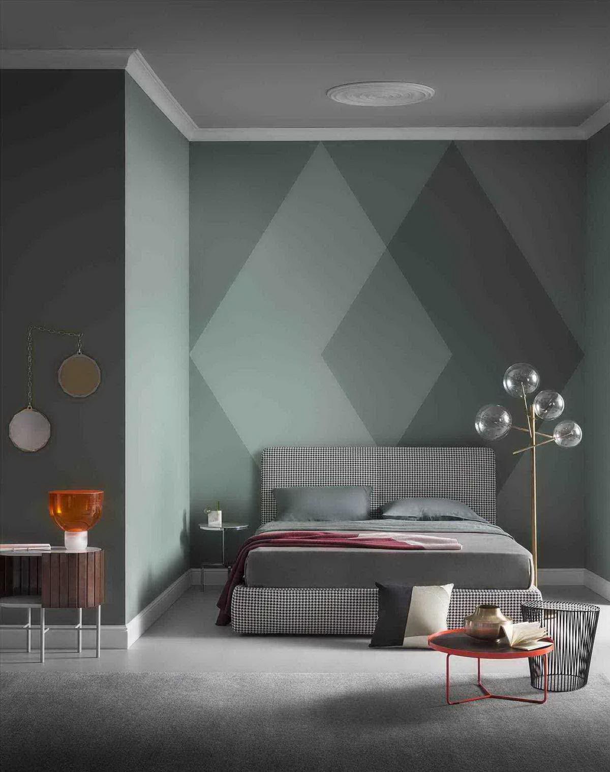 Покрасить стены в разные цвета фото