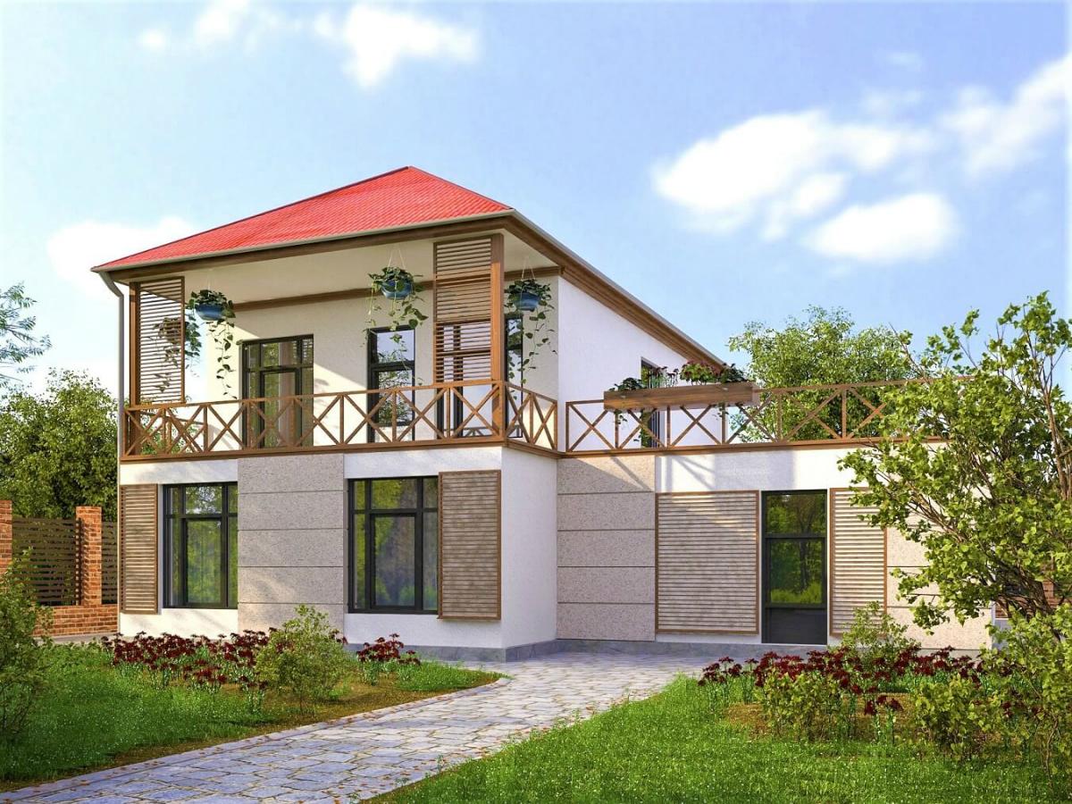 Одноэтажный дом с цокольным этажом фото проект модель