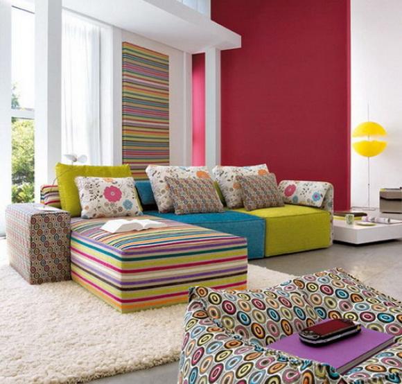 Цветные стены в интерьере