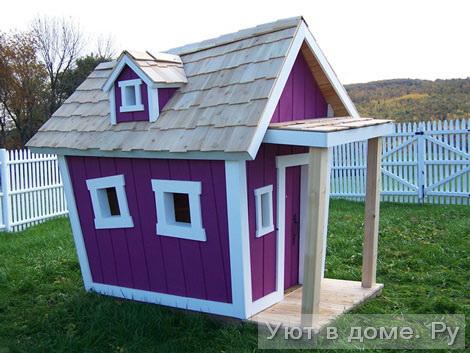 Детский домик своими руками как украсить