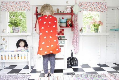 Детский игровой домик своими руками