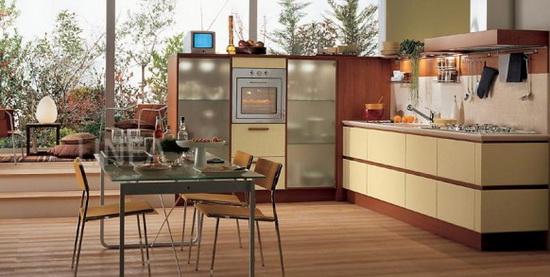 Оформление зелено-коричневой или коричнево желтой кухни смотрится больше...