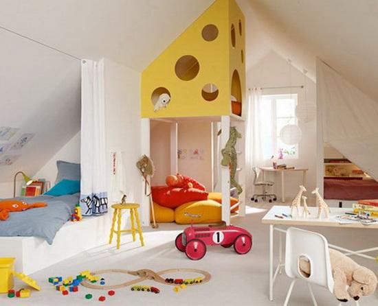 спальня и детская в одной комнате фото.