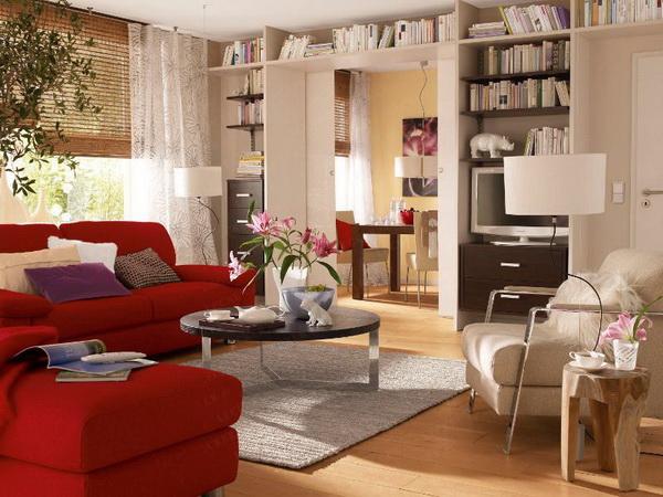 Фото дизайна комнаты в однокомнатной квартире