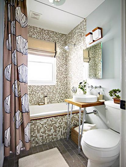 Дизайн ванной комнаты небольшого размера