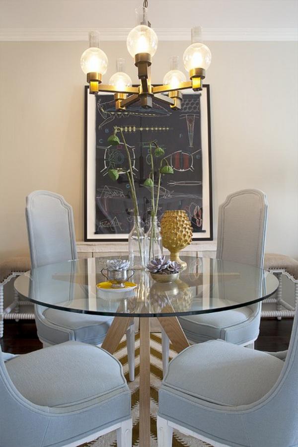 Стеклянные круглые столы в интерьере фото