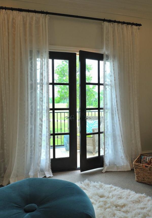 Фото стеклянных штор в интерьере фото