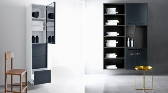 Шкафы в ванной дизайн