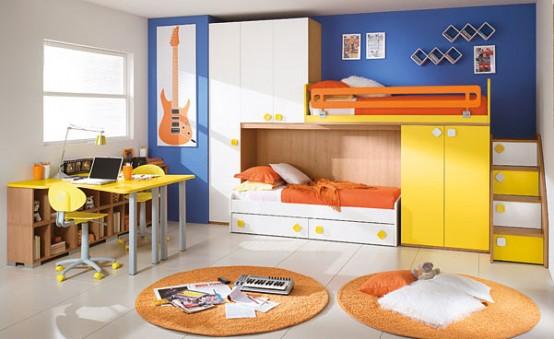 Дизайн для детской комнаты для троих детей