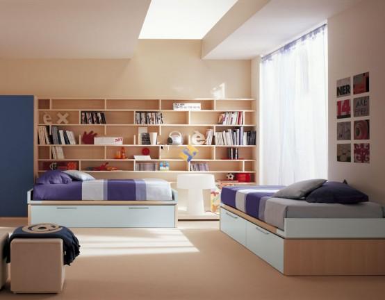 Полки в комнате или спальне будут
