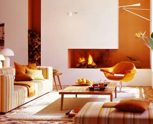 Гостиная <i>фото по дизайну зала с электрокамином</i> с камином