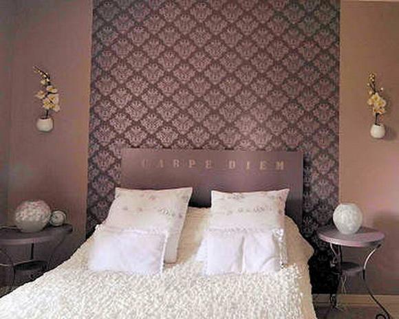 Обои для спальни - дизайн (фото) .