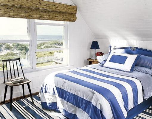 шторы в спальне - фото