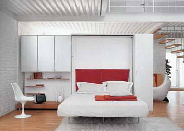 Фото дизайна комнаты с откидной кроватью