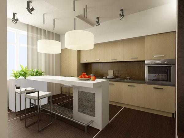 Интерьер на кухне 6 метров 76