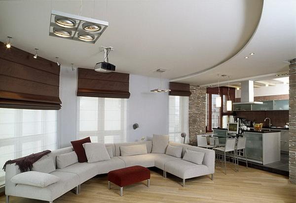 Дизайн совмещенной кухни с комнатой