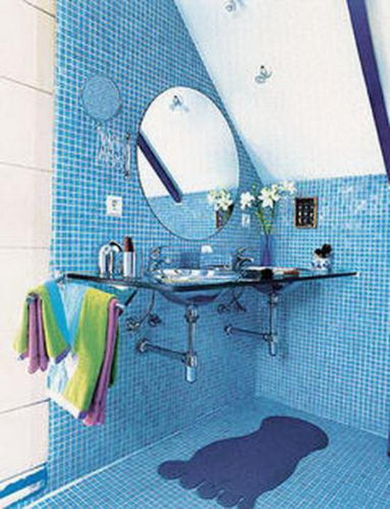 Голубые обои для стен: фаворит природных акцентов в
