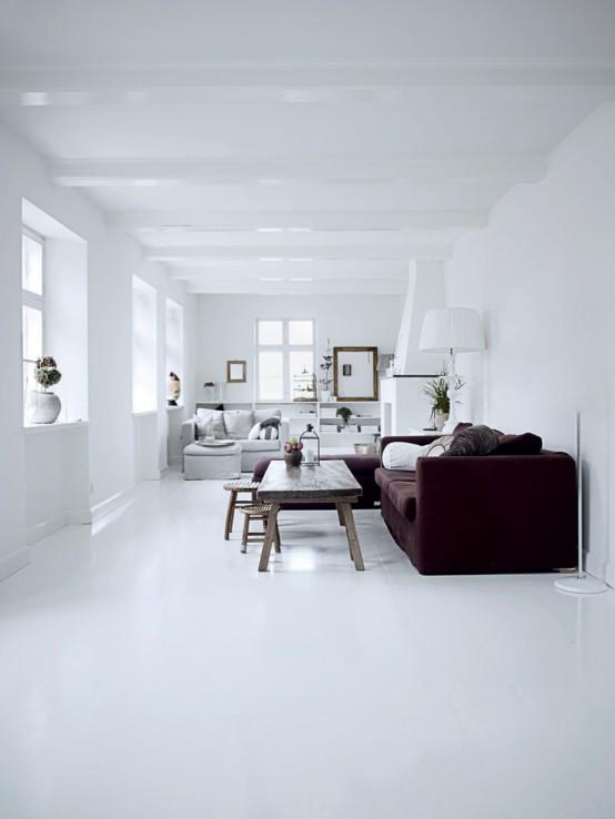 Интерьер белого цвета