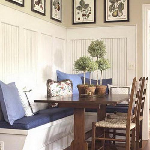 диван на кухне стильный и удобный интерьер