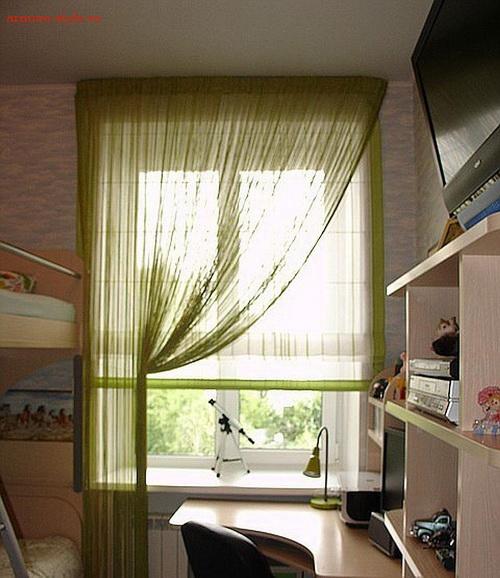 Нитяные шторы - кисея, веревочные шторы