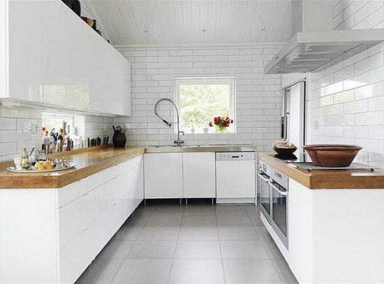 Плитка напольная в интерьере кухни