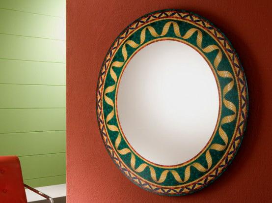 Большое зеркало в интерьере