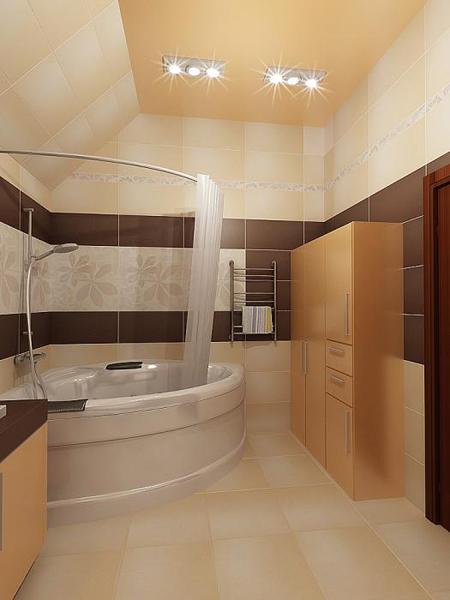 Ванная комната в деревянном доме 59
