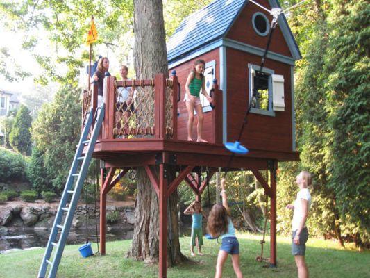 Деревянный дом на дереве своими руками