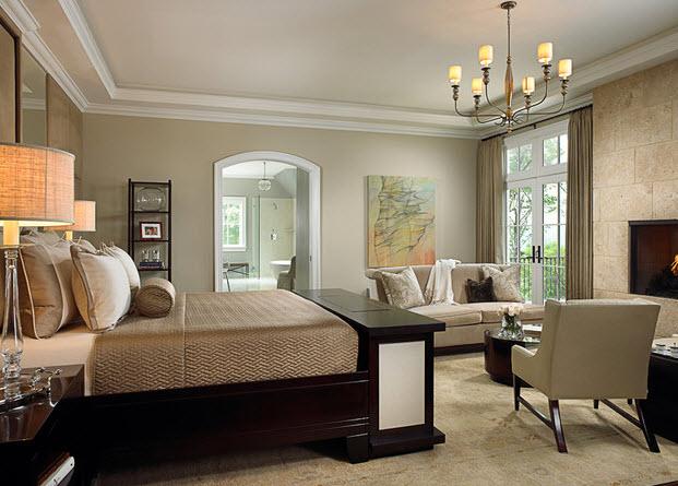 Спальня с камином