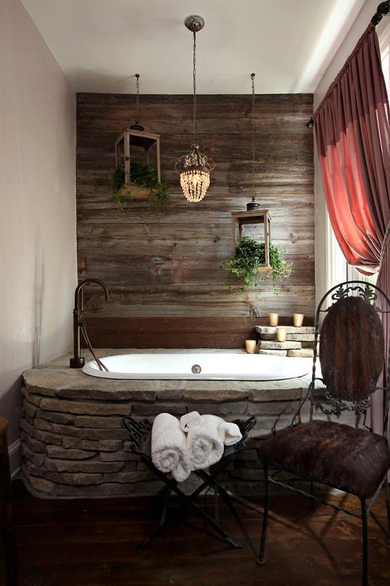 Ванная комната выложенная камнями фото ванных комнат галерея