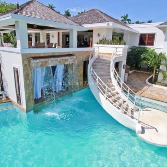 Красивые дома с бассейном фото