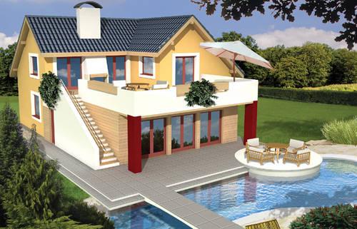 Дом с бассейном проект фото