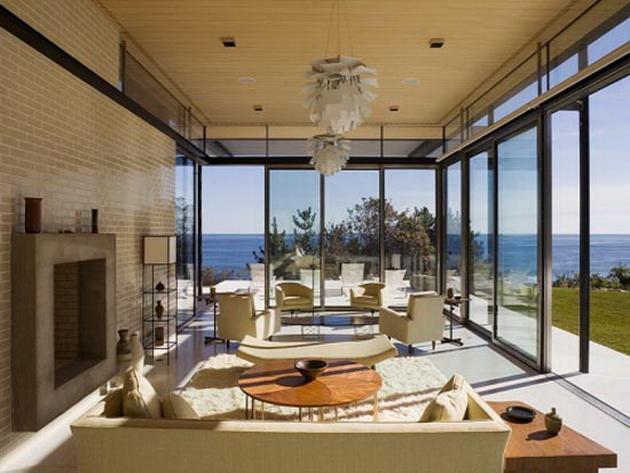 необычная и уютная гостиная