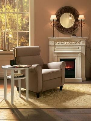 Кресло в домашнем интерьере - обивка