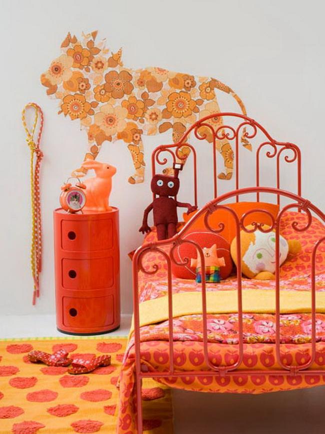 Оранжевый интерьер