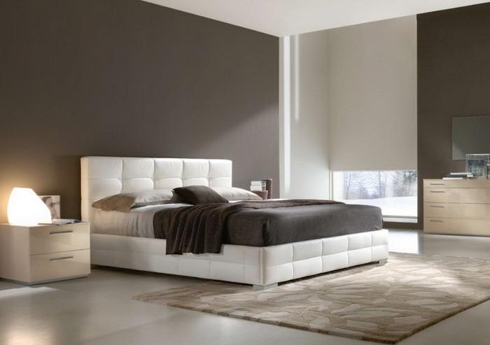 Кожаная кровать в интерьере фото