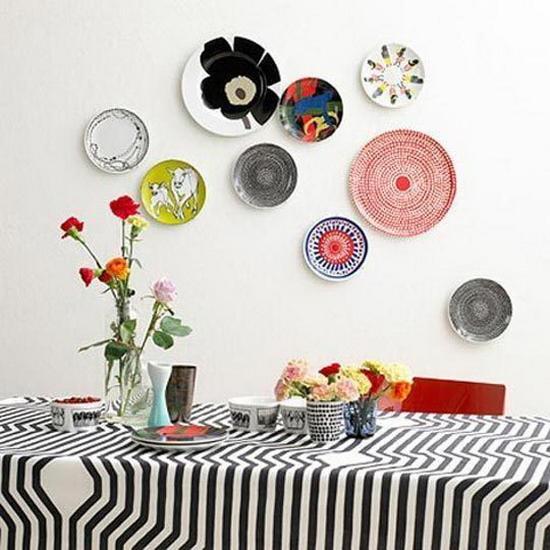 Как сделать на стену для тарелок