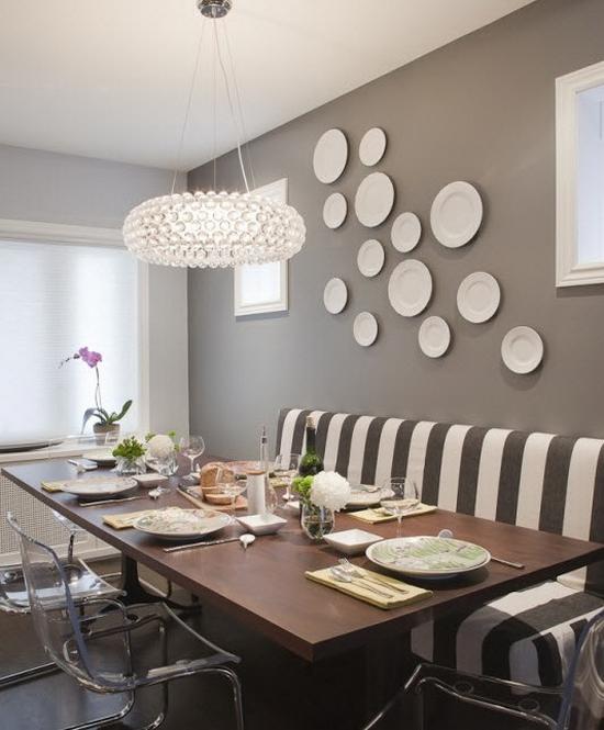 Тарелки на стене - способы