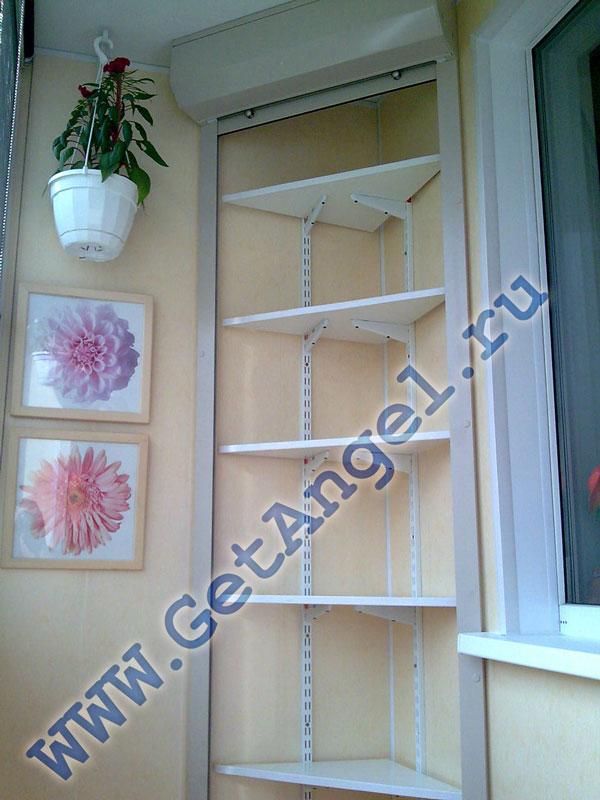 Шкафы на балконе - 30 примеров в интерьере.. обсуждение на l.