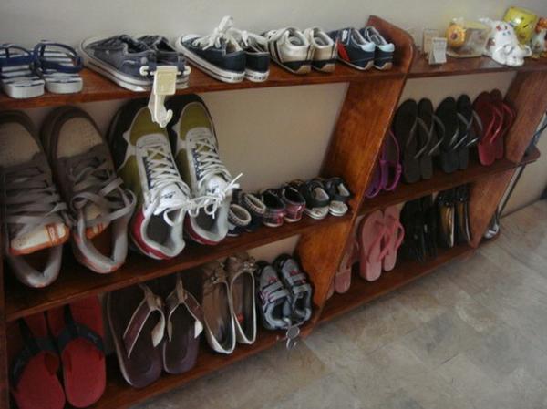 Полки для обуви своими руками с фото