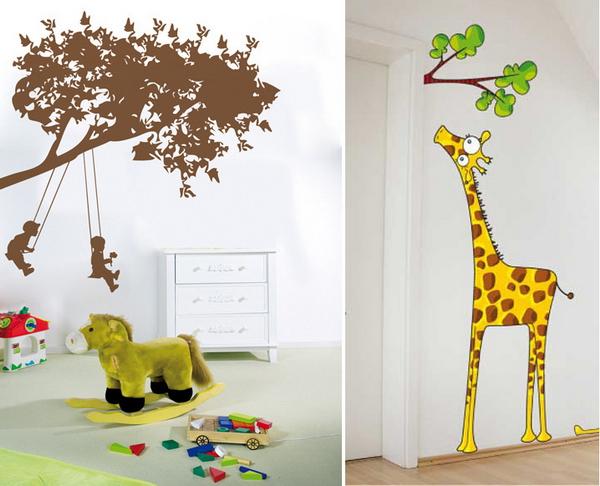 Оригинальные рисунки в детской