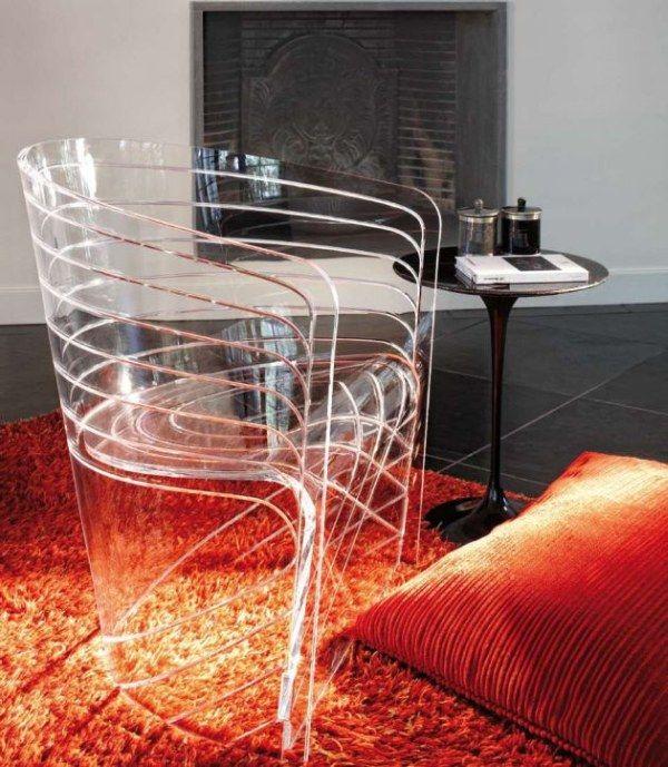 Прозрачный стул с членом 15 фотография