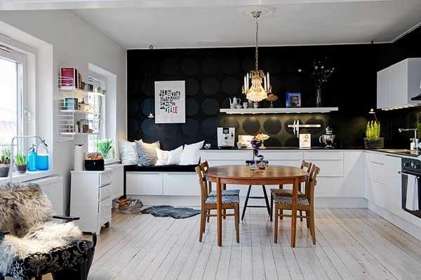 Простой дизайн шведской квартиры в стиле ИКЕА