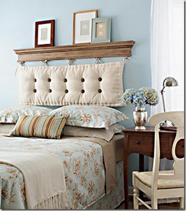 полка в спальне над кроватью фото