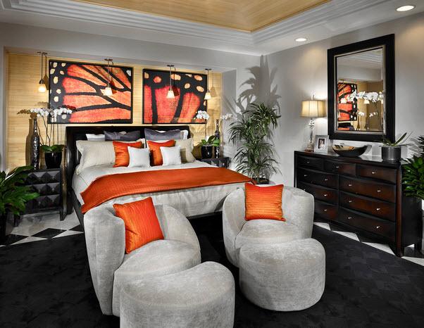 Розовые спальни дизайн фото