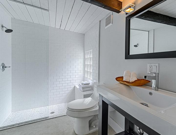 Реечный потолок для ванной - фото