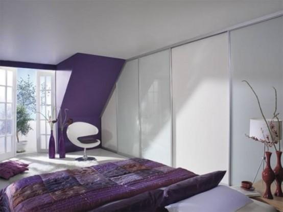 Идеи спален с шкафами 393