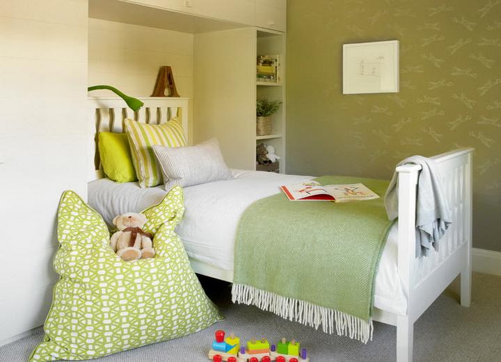 Оливковый цвет в дизайне спальни