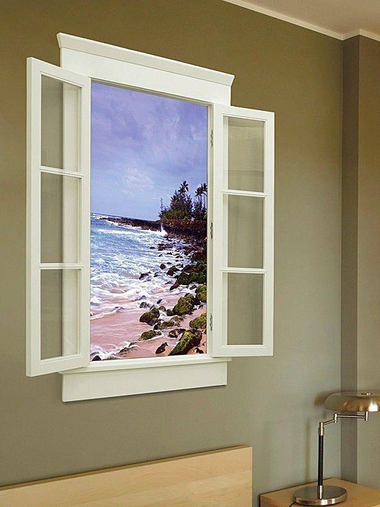 Фальш-окно с подсветкой: идея дополнительного света - 35 фот.
