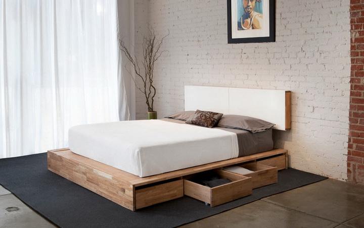 фото спальни дизайн минимализм